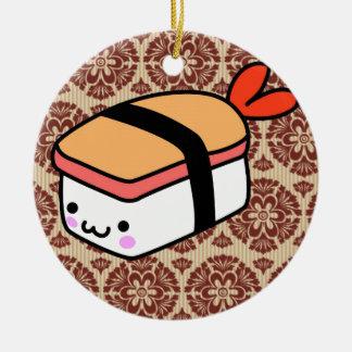 kawaii sushi on wallpaper christmas tree ornaments