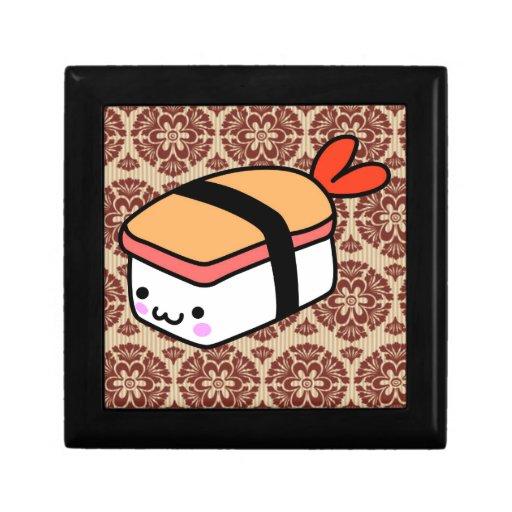 kawaii sushi on wallpaper keepsake box