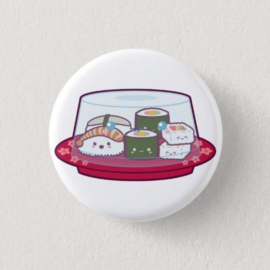 Kawaii Sushi Plate 3 Cm Round Badge