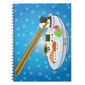 Kawaii Sushi Platter Notebook