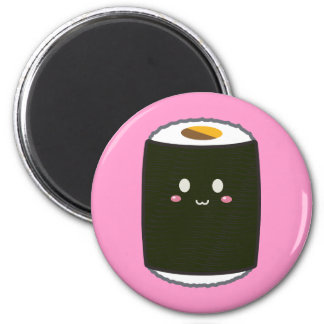 Kawaii Sushi Roll 6 Cm Round Magnet