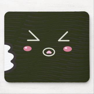 "Kawaii Sushi Roll ""Close-up""with Bitemark Mouse Mat"