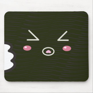 "Kawaii Sushi Roll ""Close-up""with Bitemark Mouse Pad"