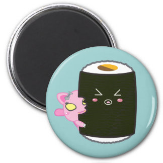 Kawaii Sushi Roll with Nadel the Cat Magnet