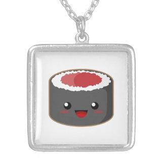 Kawaii Sushi Square Pendant Necklace