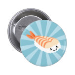 Kawaii Sushi with faces 6 Cm Round Badge