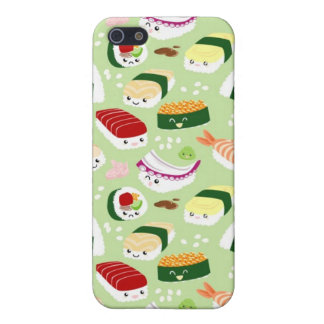 Kawaii Sushi with faces Case For The iPhone 5