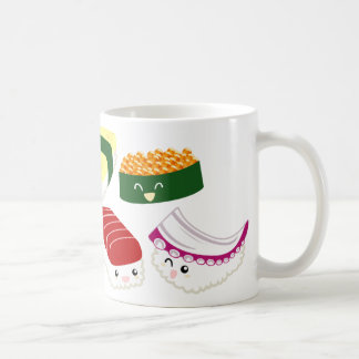 Kawaii Sushi with faces Coffee Mug