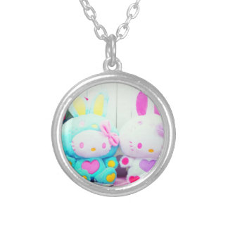 Kawaii Sweet Cute Silver Plated Round Necklace