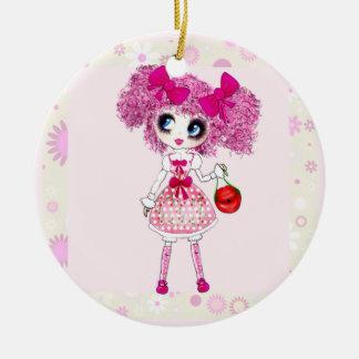 Kawaii Sweet Lolita PinkyP adorable pink girl Christmas Tree Ornament