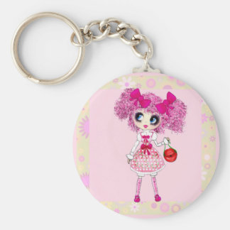 Kawaii Sweet Lolita PinkyP adorable pink girl Key Chains