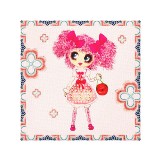 Kawaii sweet lolita teen girl PinkyP personalized Canvas Print