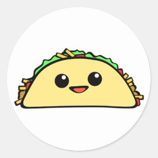 Kawaii Taco Round Sticker