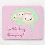 Kawaii Thinking Dumplings Mousepad