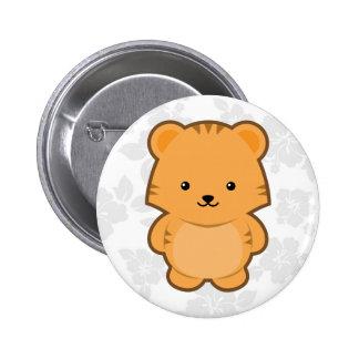 Kawaii Tiger 6 Cm Round Badge