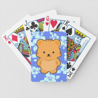 Kawaii Tiger Bicycle Playing Cards
