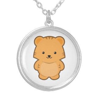 Kawaii Tiger Round Pendant Necklace