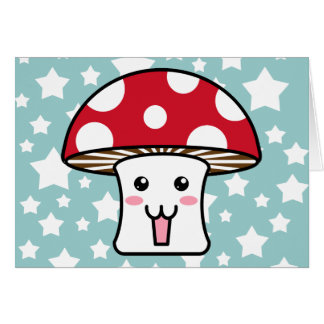 Kawaii Toadstool Card