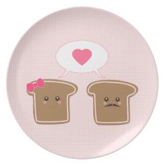 Kawaii Toast Love Plate