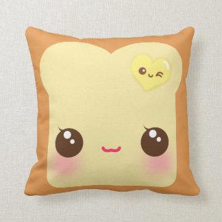 Kawaii toast with cute heart butter cushion