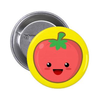 Kawaii Tomato 6 Cm Round Badge