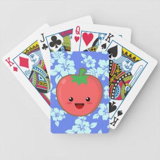 Kawaii Tomato Bicycle Playing Cards