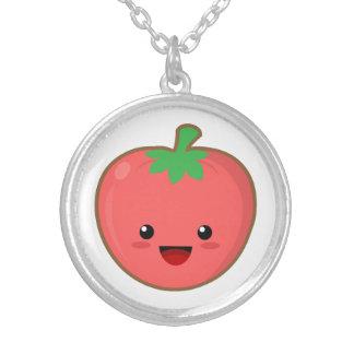 Kawaii Tomato Round Pendant Necklace