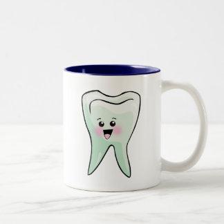 Kawaii Tooth Dental Art Two-Tone Mug