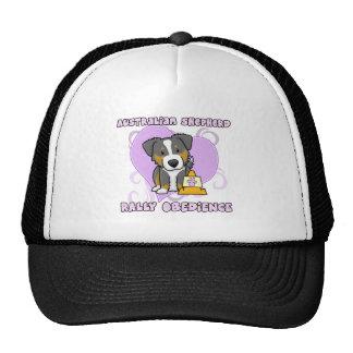 Kawaii Tri Color Australian Shepherd Rally-O Mesh Hats