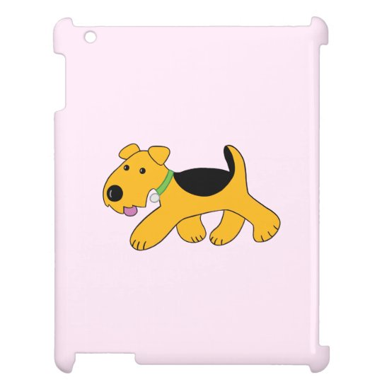Kawaii Trotting Airedale Dog iPad Mini Case