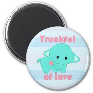 Kawaii Trunkful of Love baby elephant magnet