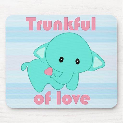 Kawaii Trunkful of Love baby elephant mousepad