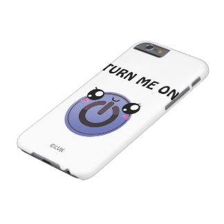 Kawaii turn on button barely there iPhone 6 case