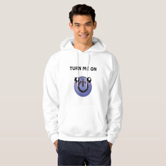 Kawaii turn on button hoodie