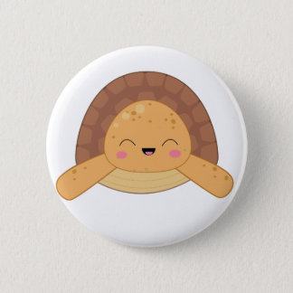 Kawaii Turtle Pin Badge Orange