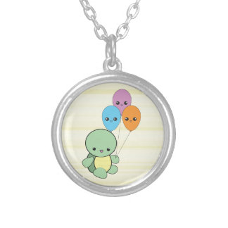 Kawaii Turtle with Balloons necklace