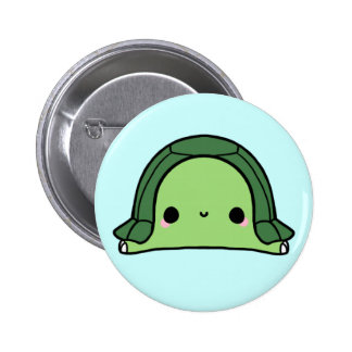 Kawaii Turtle (You change the Background!) 6 Cm Round Badge