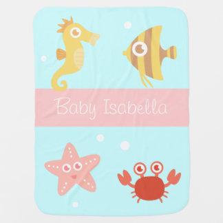 Kawaii Underwater Animals, For Babies Baby Blanket