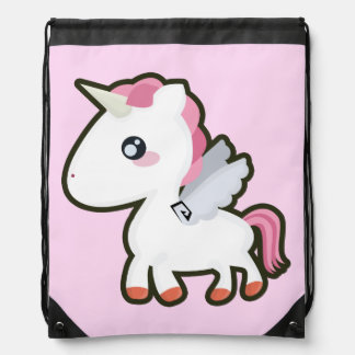 Kawaii Unicorn Drawstring Bag