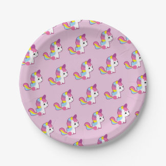 Kawaii Unicorn Paper Plate