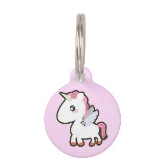 Kawaii Unicorn Pet ID Tag