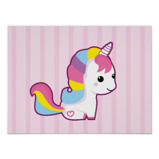 Kawaii Unicorn Poster
