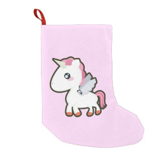 Kawaii Unicorn Small Christmas Stocking
