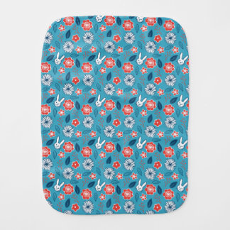 Kawaii Usagi Floral Pattern Burp Cloth