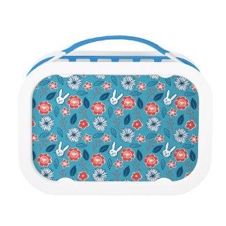 Kawaii Usagi Floral Pattern Lunch Box