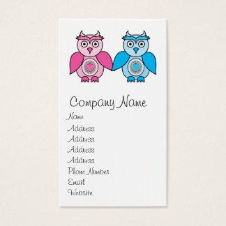 Kawaii Valentines Owls Business Card