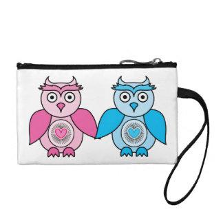 Kawaii Valentines Owls Coin Purse