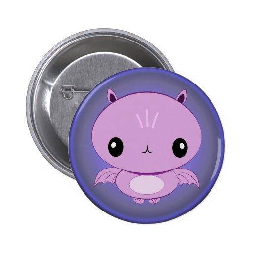 Kawaii Vampire Bat Button