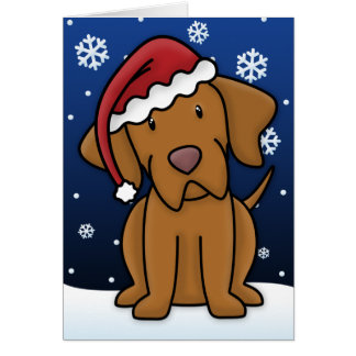 Kawaii Vizsla Christmas Card