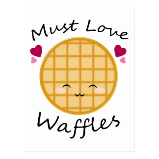 Kawaii Waffle Post Cards